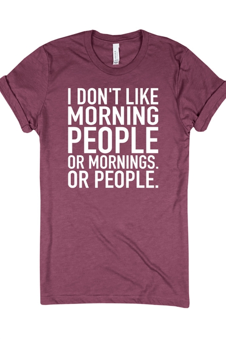 Picture of Don't Like Mornings Graphic Tee