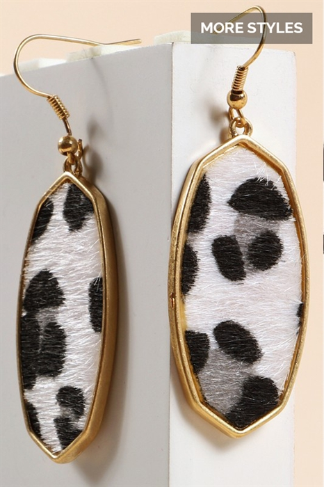 Picture of Hexagon Animal Print Earrings