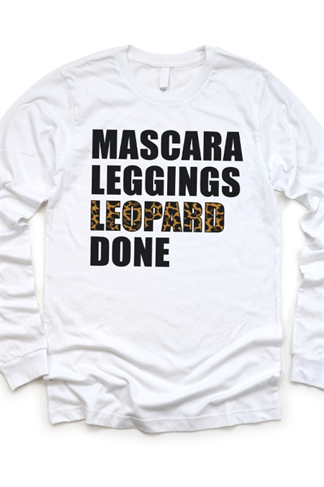 Picture of Mascara, Leggings, Leopard LS Graphic Tee