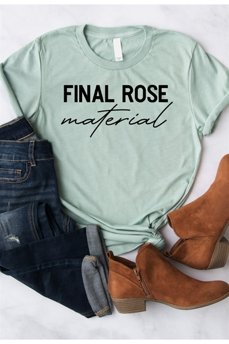 Picture of Final Rose Material Graphic Tee