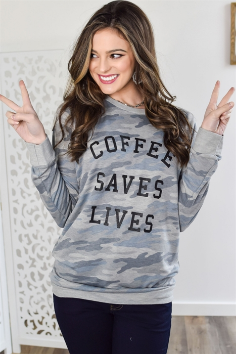Picture of Coffee Saves Lives Terry Top 🇺🇸